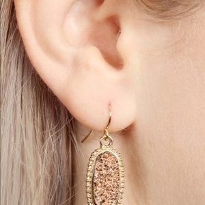 Jill Marie Boutique Jewelry - Gold druzy quartz earrings NWT